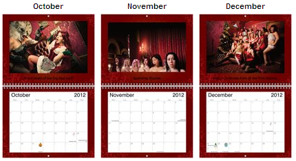 calendar Oct Nov Dec